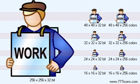 Unemployed Icon by phorago