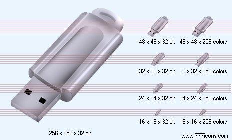 USB-drive Icon by phorago