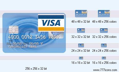 VISA card Icon by phorago