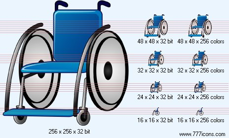 Wheelchair Icon by phorago