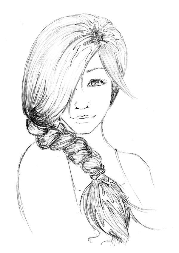 Random girl sketch by prettylittlefools