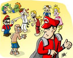 Street fighter Mario Bros by Stopinski