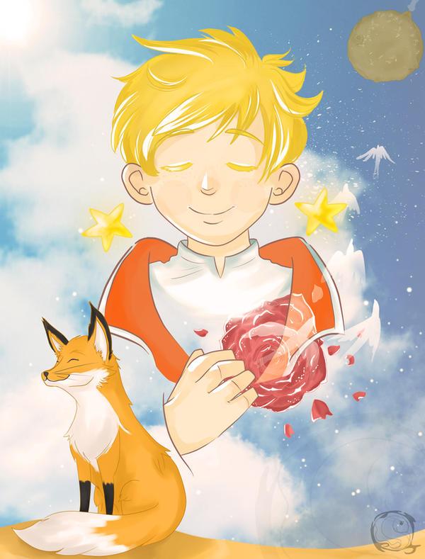 Petit Prince et Renard by electra-gretchen
