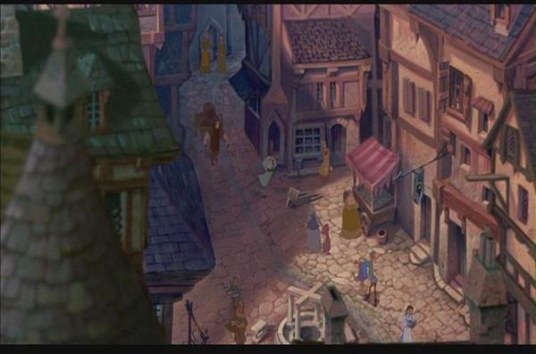 Disney - Belle in Hunchback by electra-gretchen