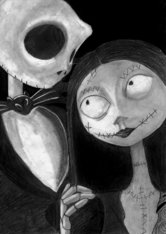 Sally and Jack skellington by ninjacakezJack Skellington And Sally
