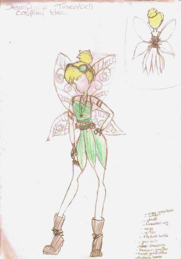 Steampunk Tinkerbell costume design by ninjacakez
