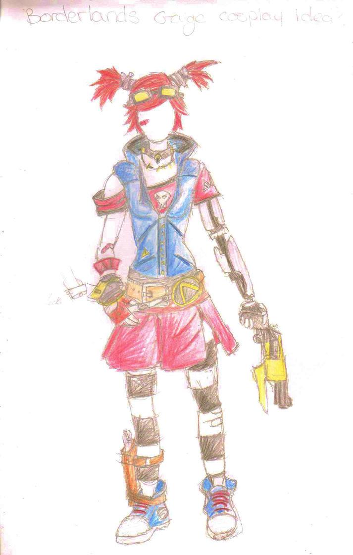 Gaige Cosplay design/ sketch by ninjacakez