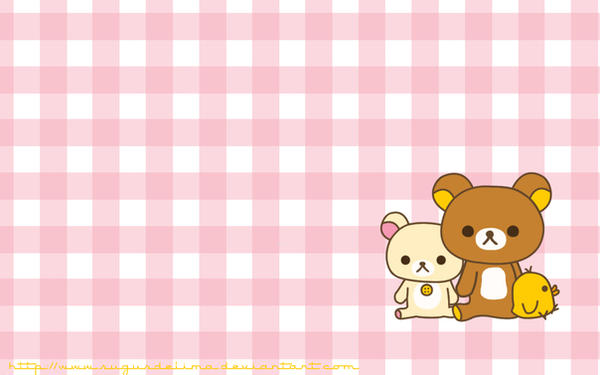 Rilakkuma Wallpaper - pink by sugusdelima