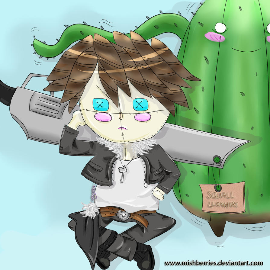 [Comm] : Final Fantasy : Squall Leonhart Plushie! by Mishberries