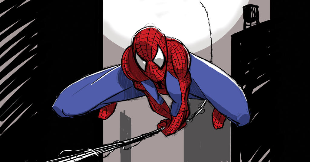 Spidey Sketch by KennBaker