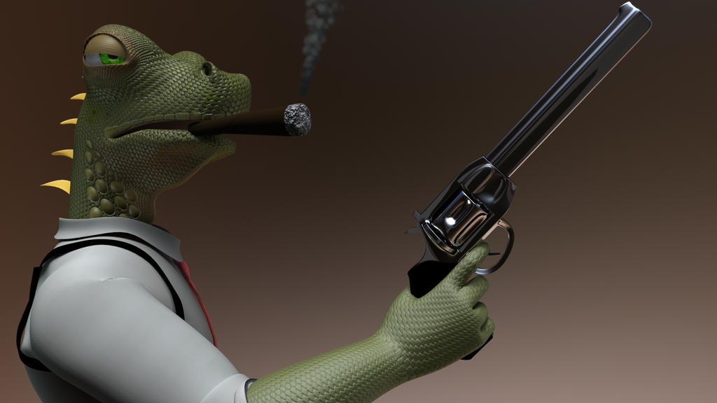 Lizard Gangster by KennBaker