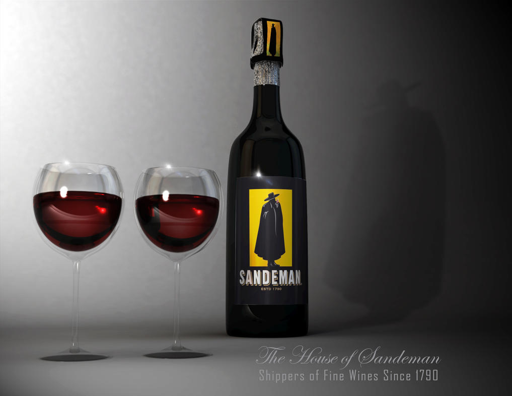 Sandeman Port Wine Ad by KennBaker