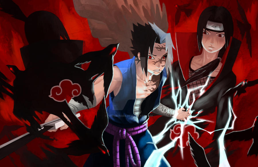 Sasuke Vs Itachi By He11Bringer On DeviantArt