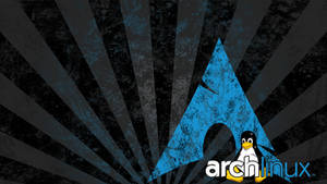 Arch Linux logo with Tux, distressed