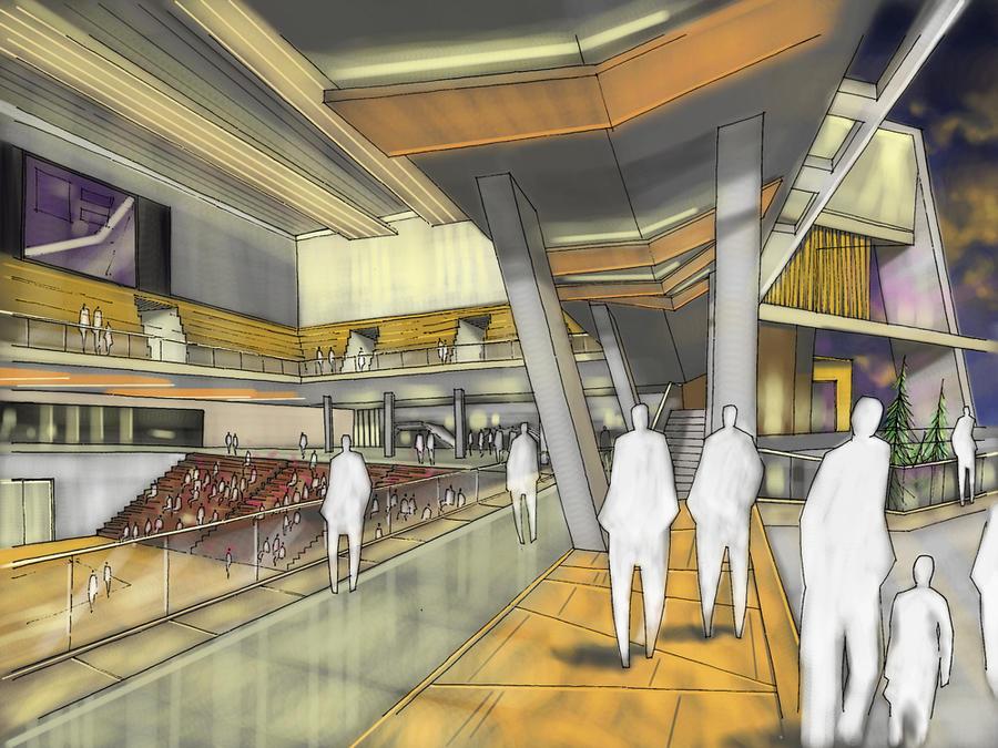 Sport hall interior 2 by galacticaz on deviantart for Drawing hall interior