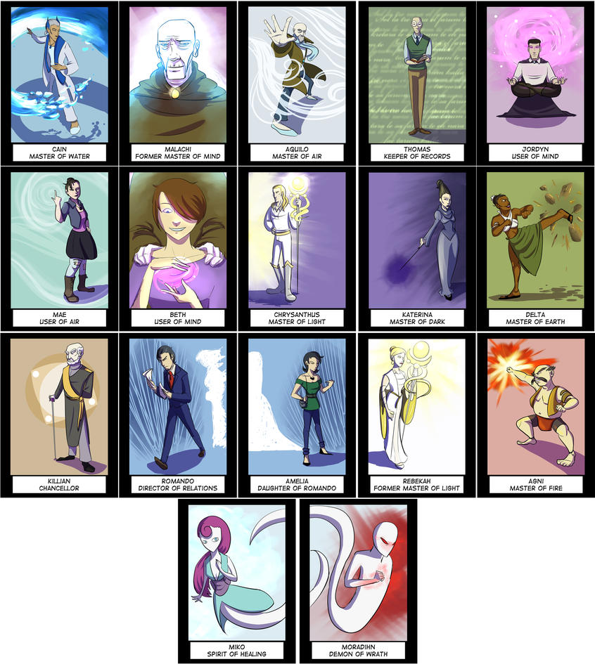 Character- Artist Trading Cards by EggnBaconSammich
