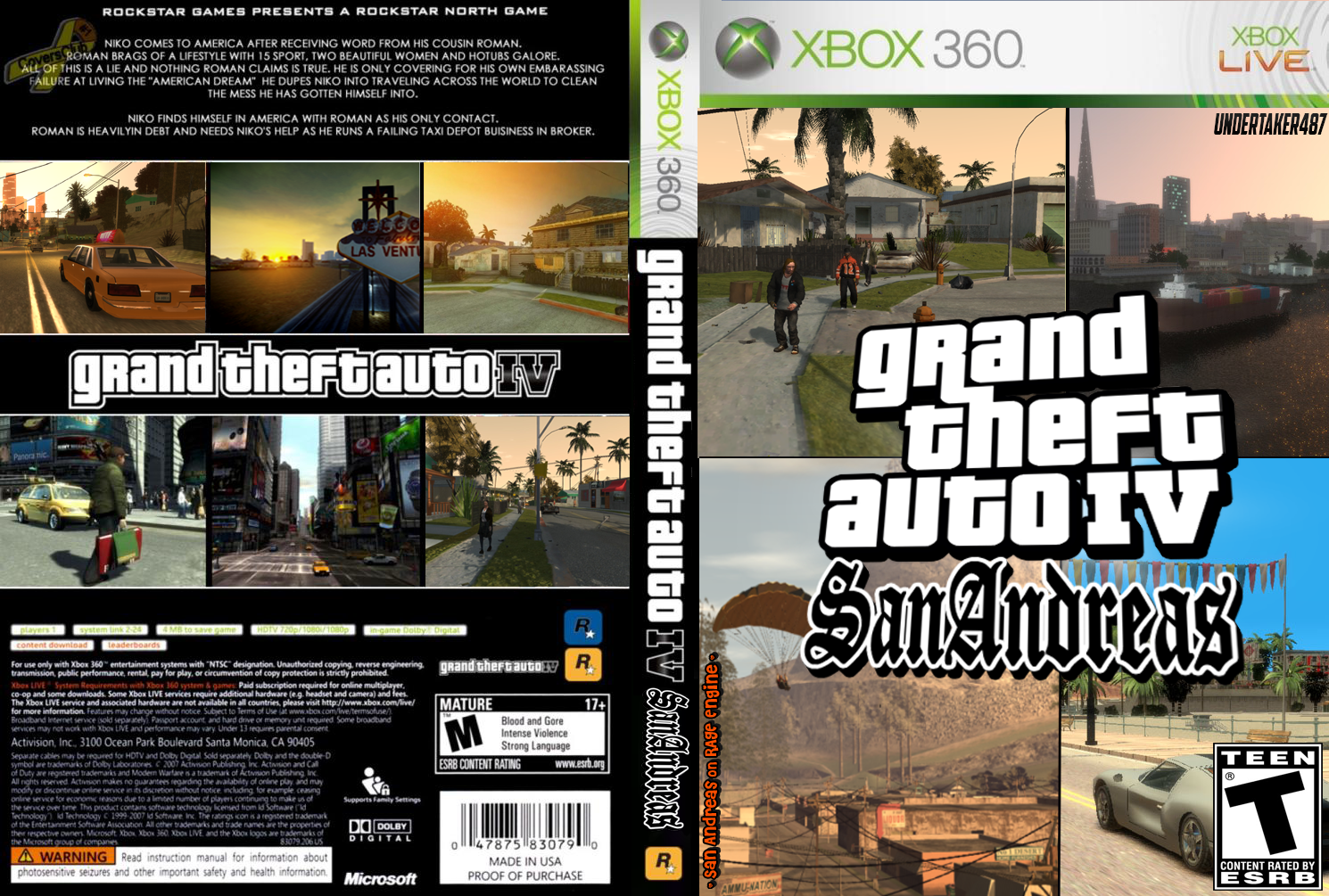 Gta 6 Cover: Grand Theft Auto IV San Andreas Xbox 360 Cover By