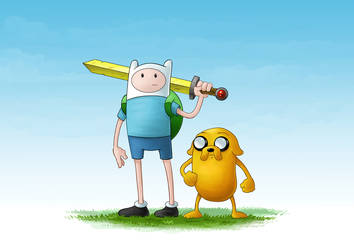 Finn and Jake by toonlumps