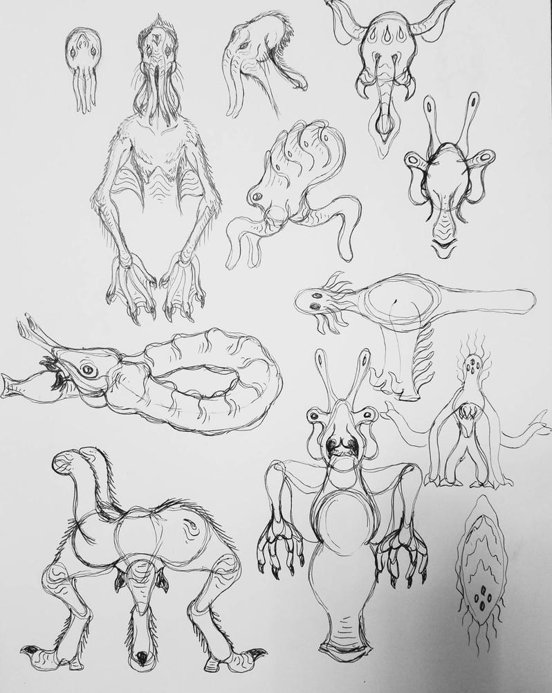 Alien Sketchwork 6 by Alienietzsche