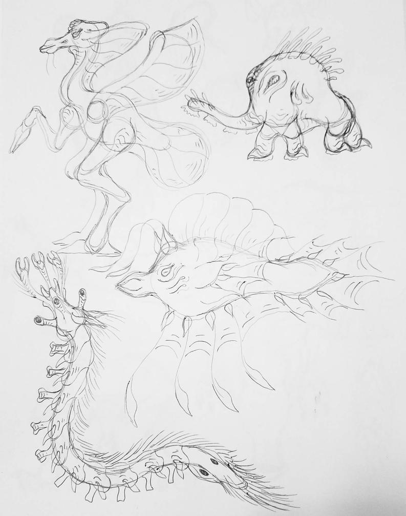 Alien Sketchwork 7 by Alienietzsche