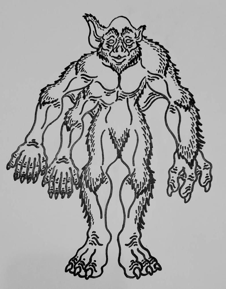 Larry Niven's Motie Alien by Alienietzsche