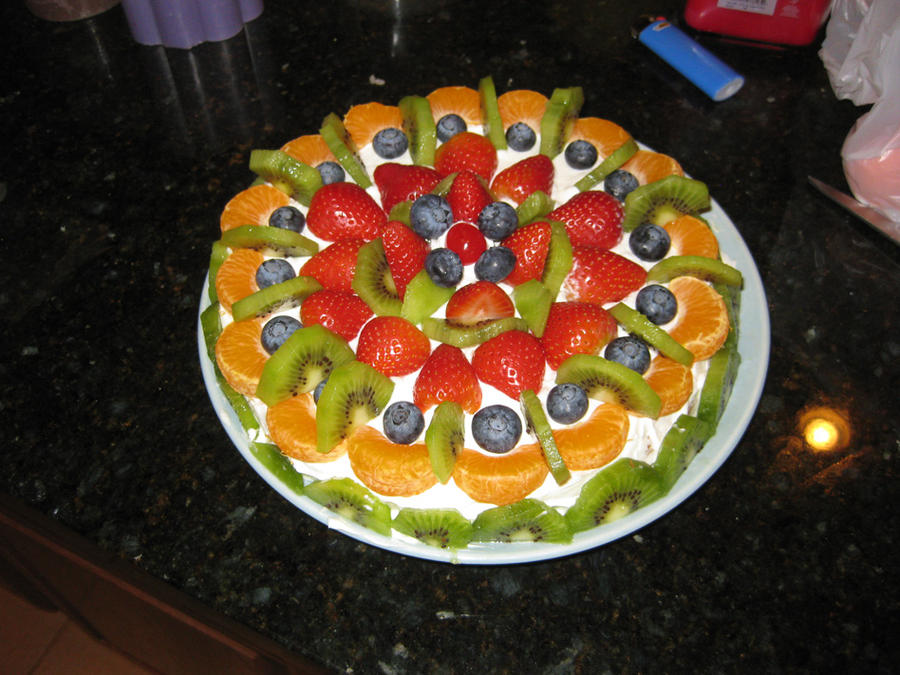 ... dry the fruits layered cake with fruit and happy birthday fresh fruit