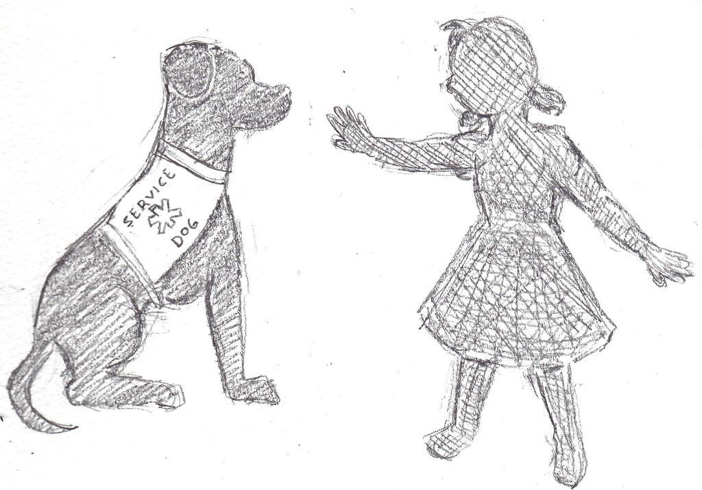 Daily Drawing 121 Service Dog By Mini Sanada On Deviantart