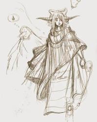 Druidess sketch