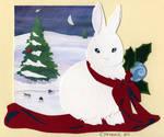 Snow Bunny Papercut