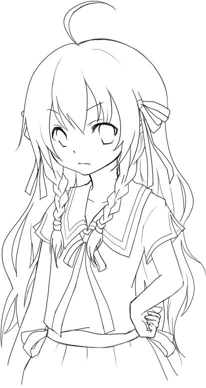 Anime Coloring Pages Chibi  lezincnyccom