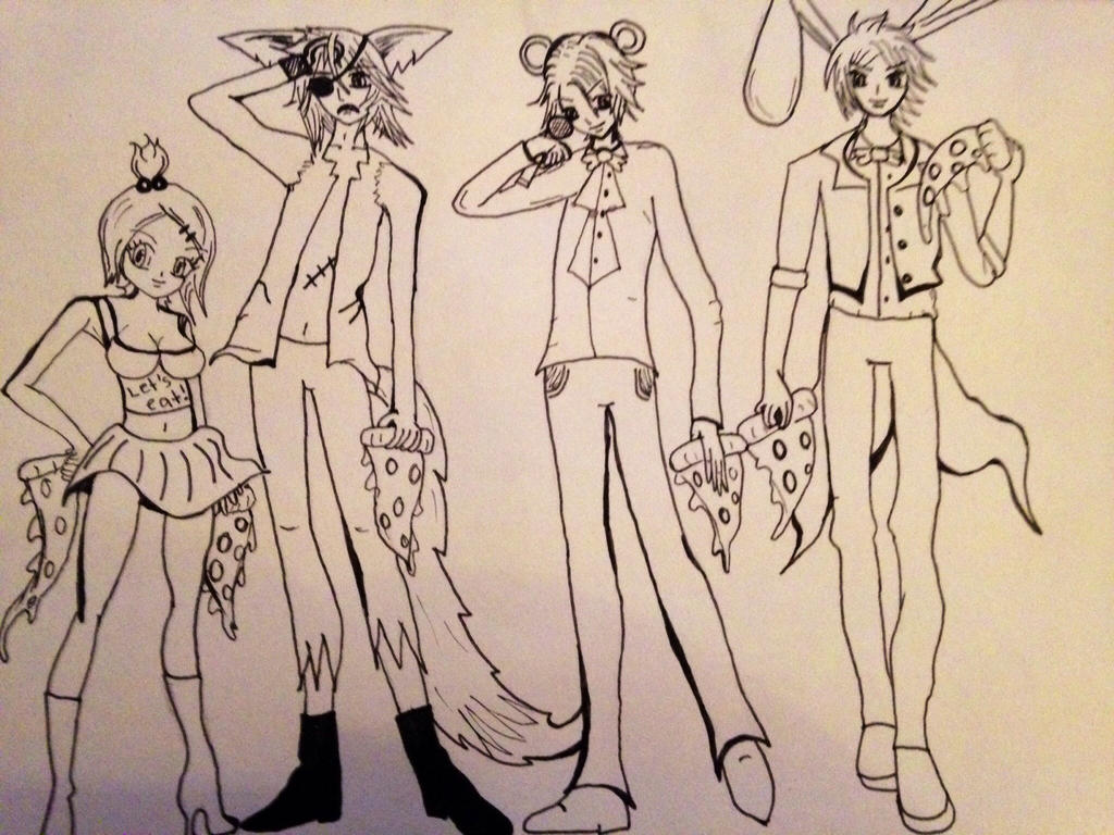 Five nights at freddy s human characters by five nights freddys