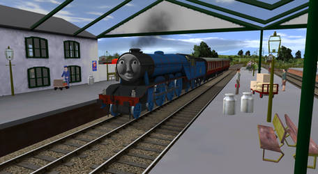 Gordon Arrived At The Station's Second Opening