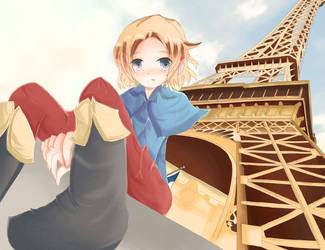 Under the Eiffel Tower by MizutheMage