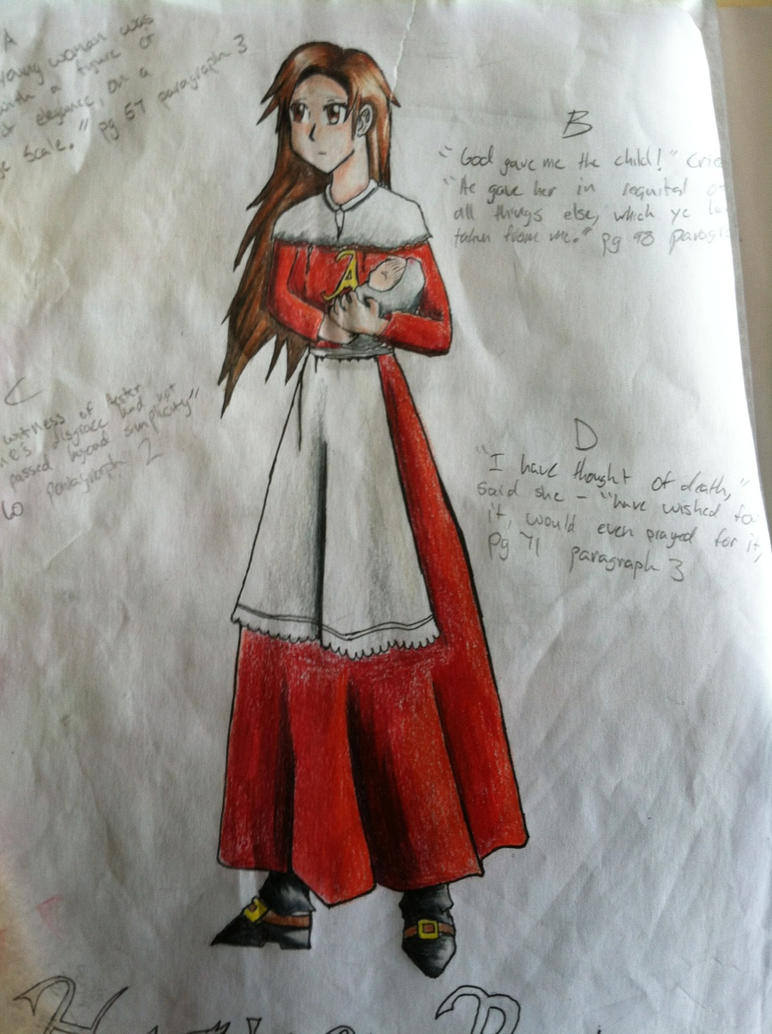 hester prynne character study I character analysis a hester prynne although the scarlet letter is about hester prynne, the book is not so much a consideration of her innate character as it is an examination of the forces that shape her and the transformations those forces effect.