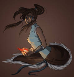 Korra in the Dark by Fushi-Chou