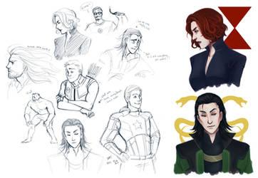 Avenger Doodles