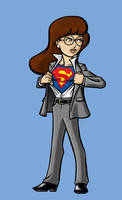 Daria as Clark Kent by BloodyWilliam
