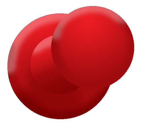 Red Push Pin PNG by BloodyWilliamPush Pin Png