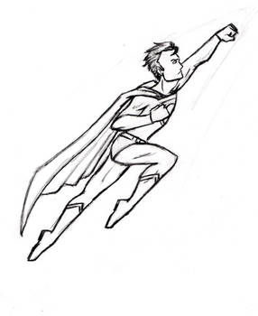 X-mas gift sketch: Superman