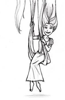 X-mas gift sketch: Rapunzel