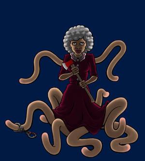 Grandma Ruth as Mrs. Pickman