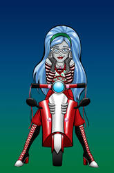Ghoulia Yelps - colored by BloodyWilliam