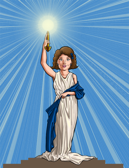 Diane Bennett as the Columbia Pictures logo
