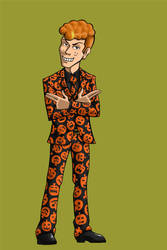 Charles Ruttheimer III as David S. Pumpkins by BloodyWilliam