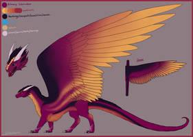 Fluffy Dragoness Sketchref 2019 (Commission)