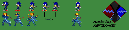 Gunvolt to Sonic Sprite Conversion by Xerex-Kai