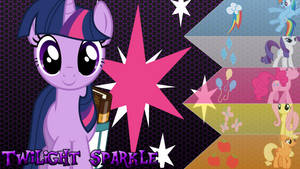 Twilight Sparkle and Her Friends Wallpaper by Xerex-Kai