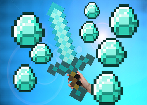 Minecraft Diamond Sword Wallpaper By Turtle Edits