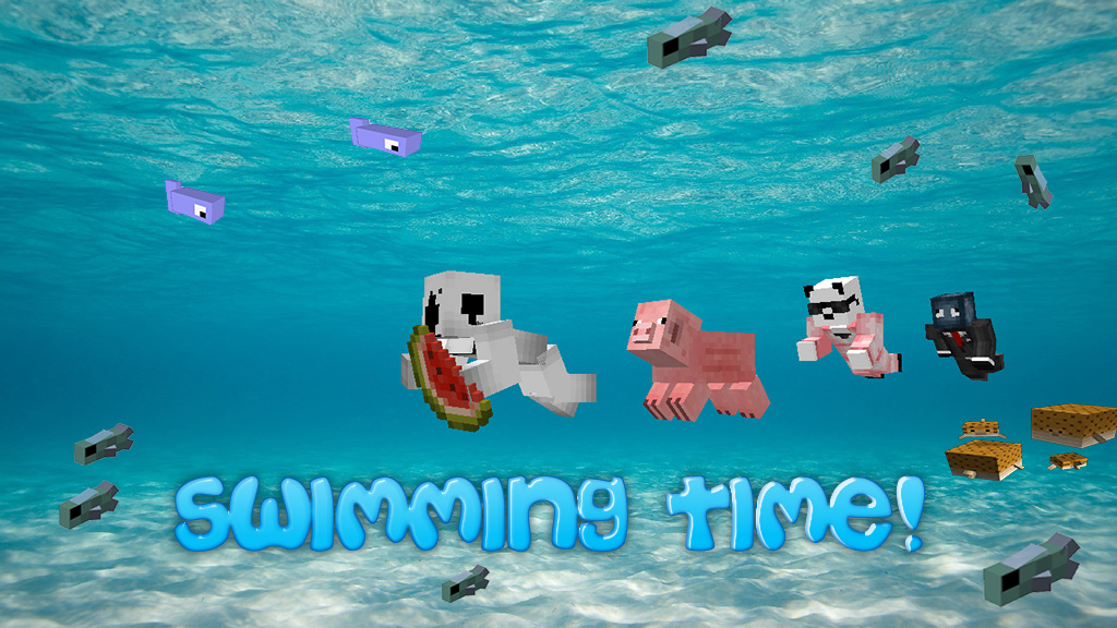 how to make a swimming in minecraft