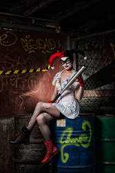 Mad Nurse [Arkham Asylum HQ variant design] by FaerieBlossom